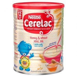 سرلاک نستله NESTLE با طعم عسل و گندم با شیر