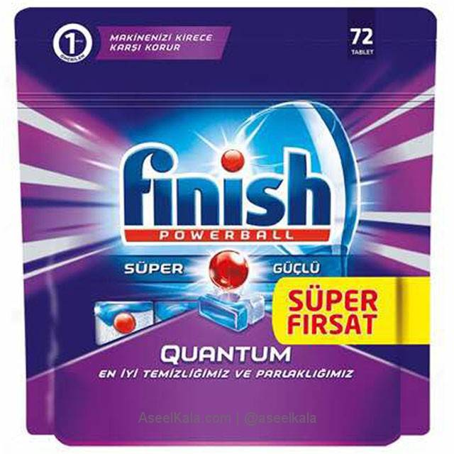 قرص ماشین ظرفشویی فینیش FINISH مدل کوانتوم 72 عددی ترک
