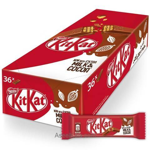 شکلات شیری ویفری KITKAT کیت کت 2 انگشتی