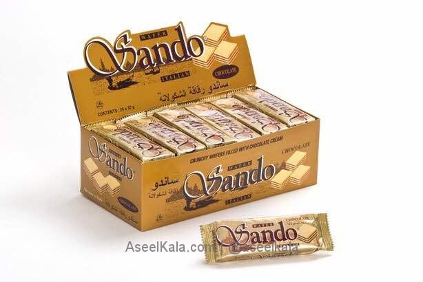 ویفر شکلاتی ساندو SANDO بسته 24 عددی