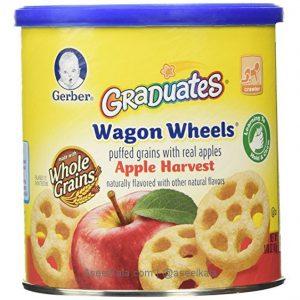 اسنک پوفی گربر مدل چرخی با طعم سیب - Gerber