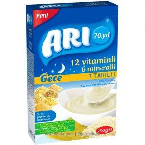سرلاک آرد برنج با شیر و 7 غله مارک آری ARI