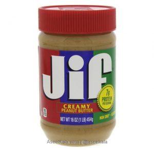 کره بادام زمینی جیف JIF مدل کِرِمی