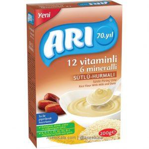 سرلاک آرد برنج با شیر و خرما مارک آری ARI