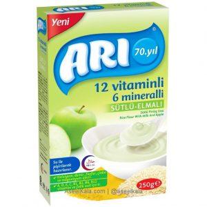 سرلاک آرد برنج با شیر و سیب مارک آری ARI