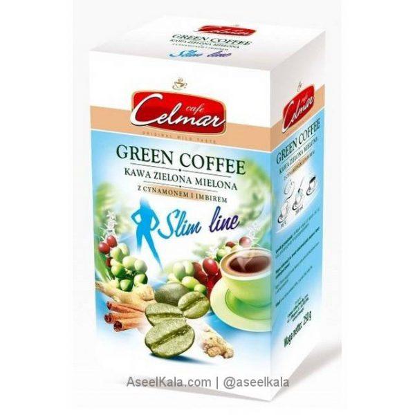 قهوه سبز لاغری سلمار Celmar با طعم دارچین و زنجبیل