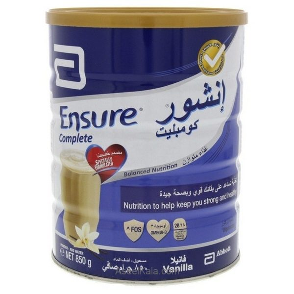 پودر مکمل غذایی انشور کمپلیت ENSURE COMPLETE وانیلی 850 گرمی