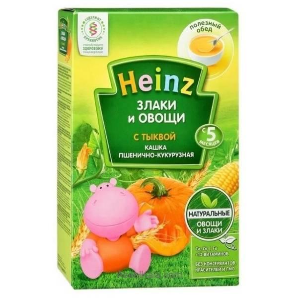 سرلاک بدون شیر هاینز HEINZ با طعم گندم ، ذرت و کدو حلوایی