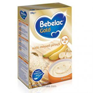 سرلاک ببلاک گلد BEBELAC GOLD با طعم برنج و موز همراه با شیر