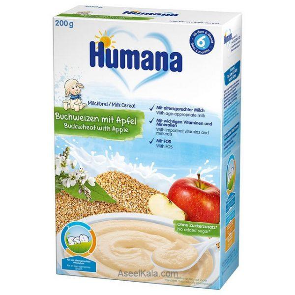 سرلاک هومانا با طعم سیب و گندم همراه با شیر