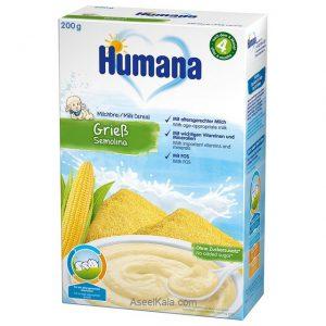 سرلاک هومانا HUMANA با طعم سمولینا همراه با شیر