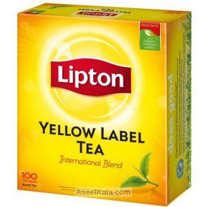 چای کیسه ای ( تی بگ ) لیپتون LIPTON با طعم ساده 100 عددی