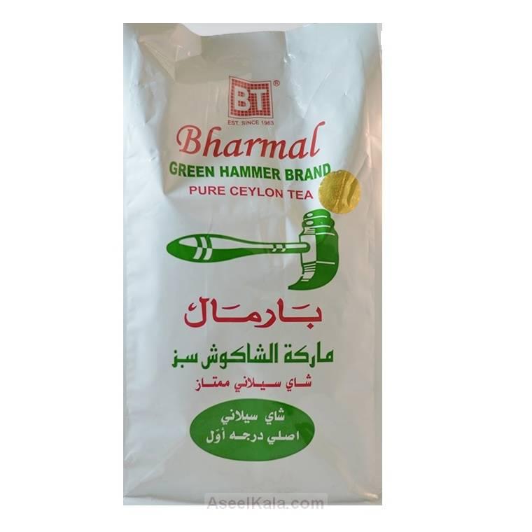 چای چکش سبز بارمال BHARMAL وزن 500 گرم