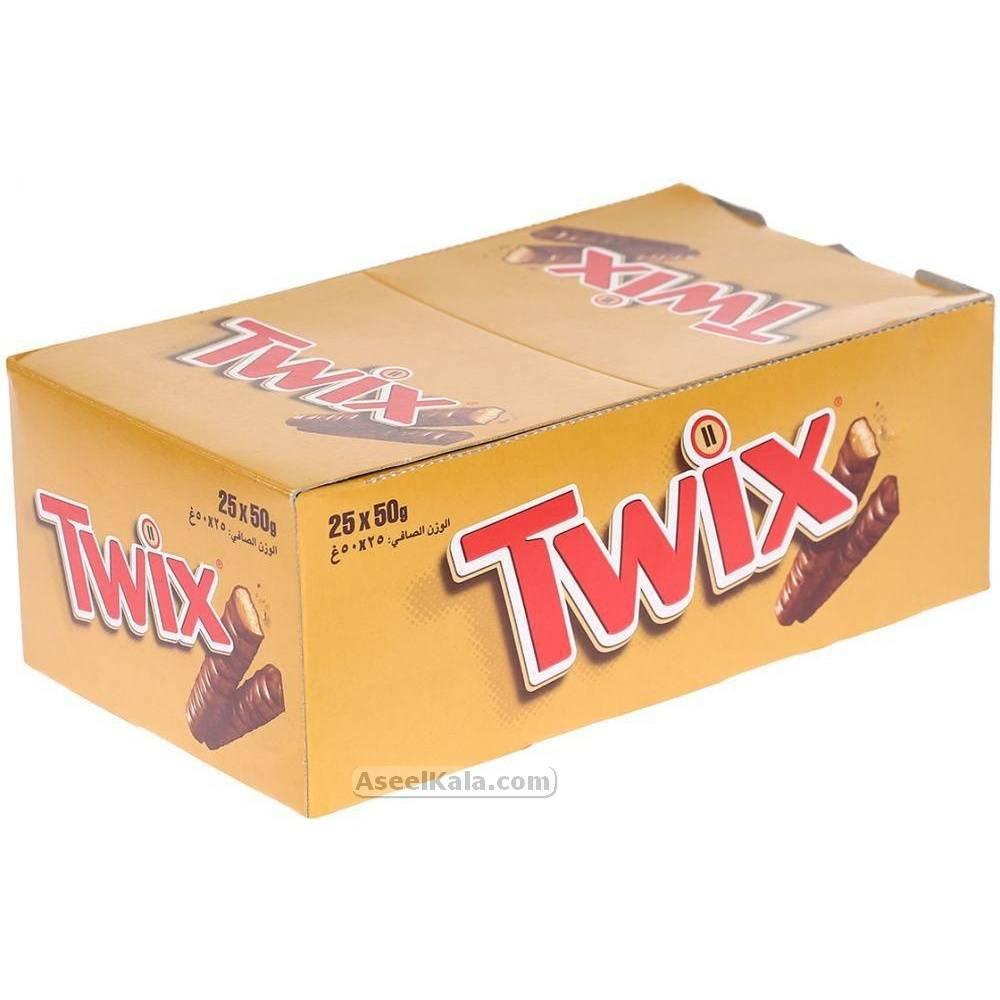 شکلات تویکس TWIX بسته 24 عددی