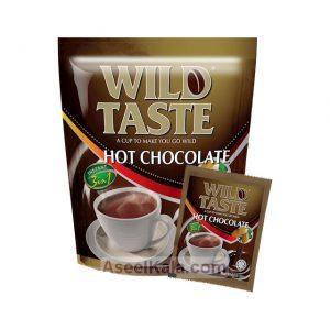 شکلات داغ یا هات چاکلت یا هات شکلات فوری وایلد تست WILD TASTE تعداد 20 عدد در 25 گرم