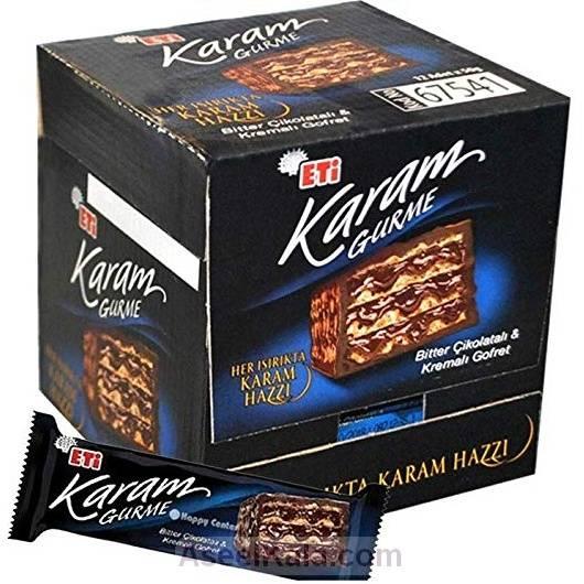 ویفر با شکلات تلخ کرم KARAM بسته 12 عددی