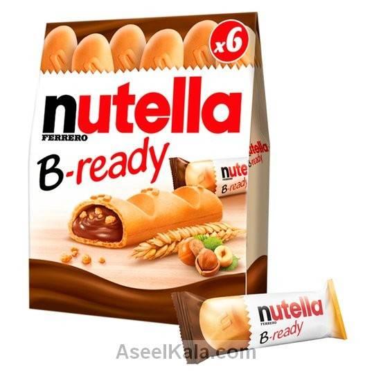 ویفر بیسکویت نوتلا فندقی NUTELLA B-READY بسته 6 عددی