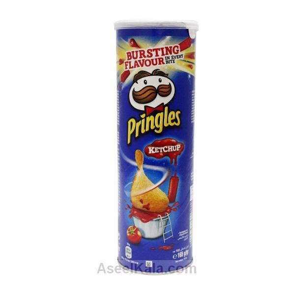 چیپس پرینگلز PRINGLES با طعم کچاپ 165 گرمی