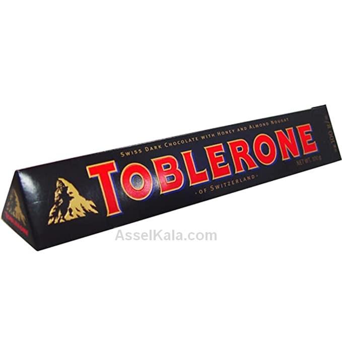 شکلات تلخ با نوگات عسل و بادام تابلرون TOBLERONE وزن ۱۰۰ گرم