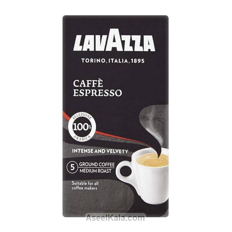 قهوه اسپرسو آسیاب شده لاوازا LAVAZZA پاکتی ۲۵۰ گرمی