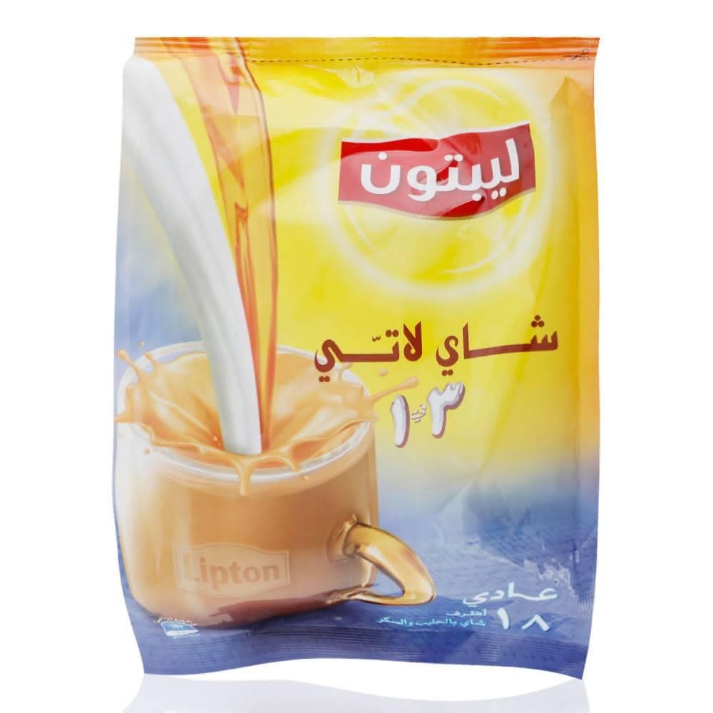 شیر چای لاته لیپتون LIPTON با طعم ساده بسته ۱۸ عددی