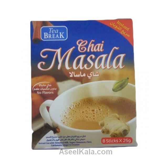 چای ماسالا فوری تی بریک TEA BREAK بسته ۸ عددی