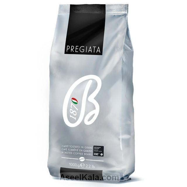 قهوه دانه باربرا BARBERA مدل پرگیاتا وزن 1 کیلو گرم