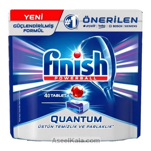 قرص ماشین ظرفشویی فینیش FINISH مدل کوانتوم 40 عددی