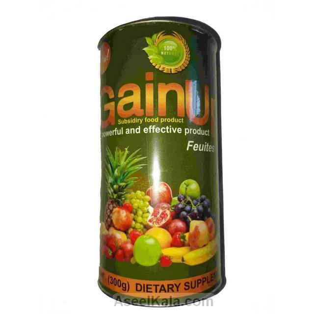 پودر چاق کننده گین آپ GAINUP با طعم میوه های استوایی وزن 300 گرم