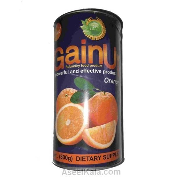 پودر چاق کننده گین آپ GAINUP با طعم پرتقال وزن 300 گرم