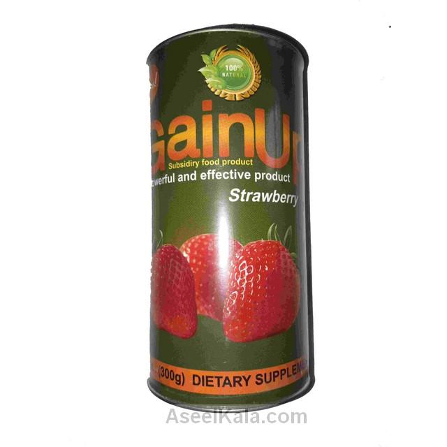پودر چاق کننده گین آپ GAINUP با طعم توت فرنگی وزن 300 گرم