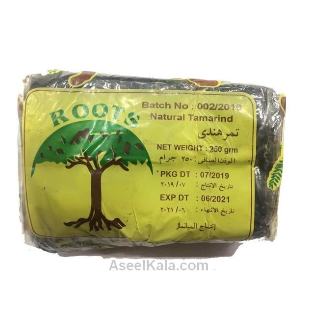تمر هندی بدون هسته چاپ درخت ROOTS وزن 250 گرم