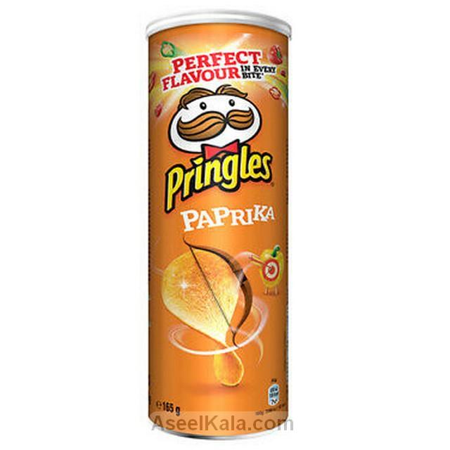 چیپس پرینگلز PRINGLES با طعم پاپریکا 165 گرمی