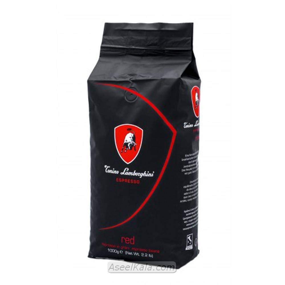 قهوه دانه اسپرسو لامبورگینی LAMBORGHINI مدل RED وزن 1 کیلو