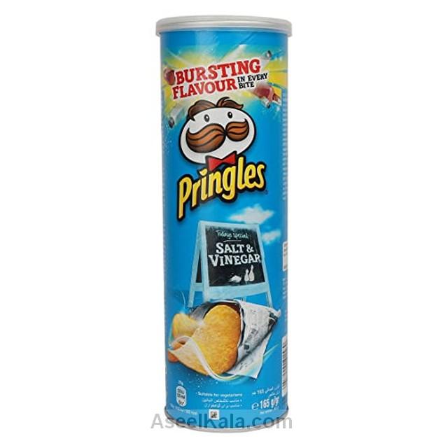 چیپس پرینگلز PRINGLES با طعم سرکه نمکی 165 گرمی