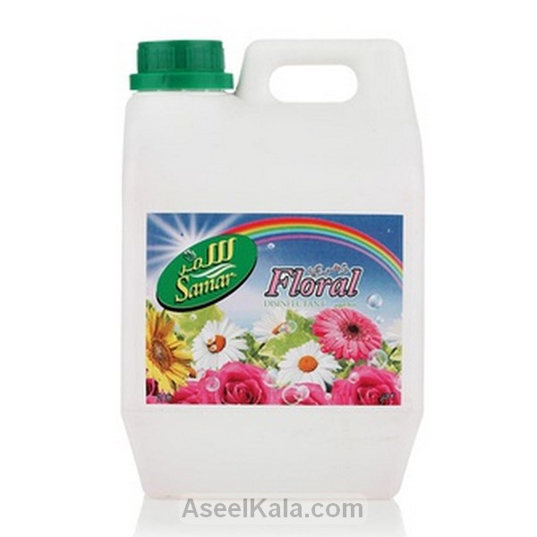 مایع خوشبو کننده و ضد عفونی کننده سمر SAMAR با رایحه گل های بهاری وزن 2 لیتر
