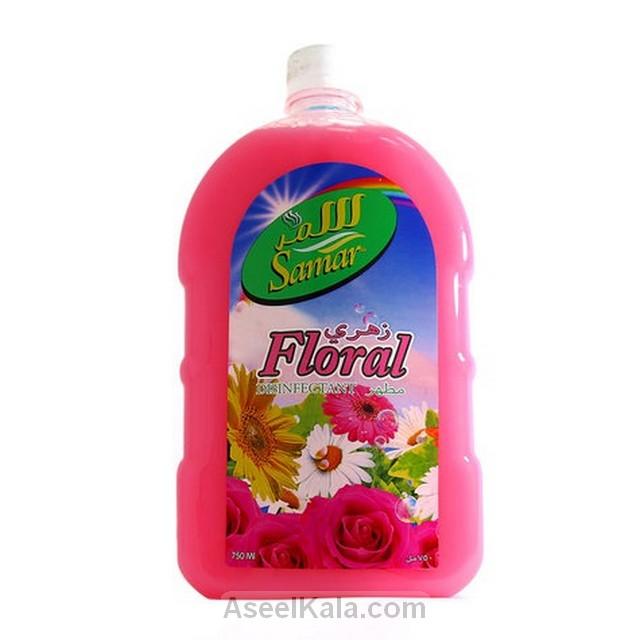 مایع خوشبو کننده و ضد عفونی کننده سمر SAMAR با رایحه گل های بهاری وزن 750 میل