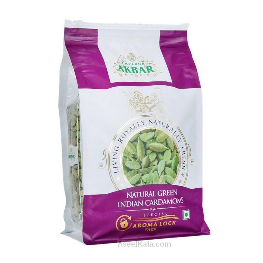 هل هندی سبز طبیعی مارک اکبر AKBAR وزن 1 کیلو