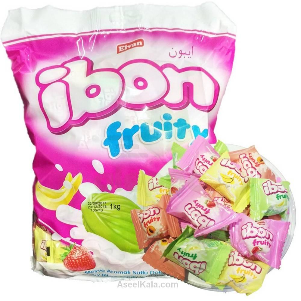 آبنبات آیبون Ibon با طعم شیر و میوه جات وزن 1 کیلو