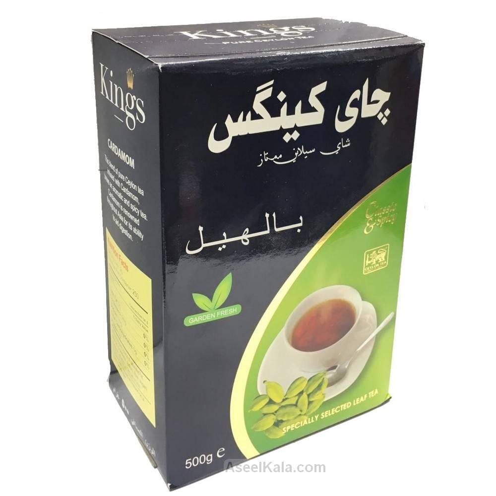 چای کینگس Kings پاکتی با طعم هل وزن 500 گرم