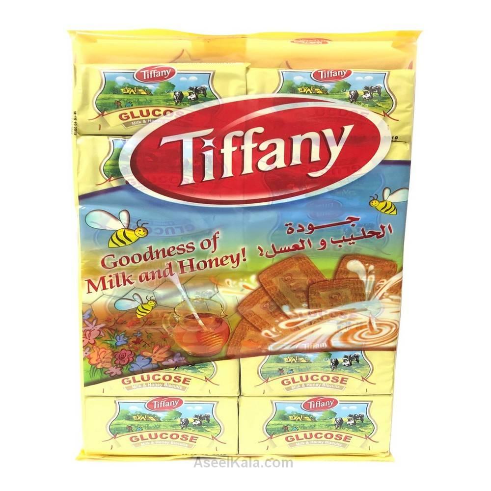 بیسکویت مادر شیر و عسل گلوکز تیفانی Tiffany بسته 12 عددی وزن 600 گرم