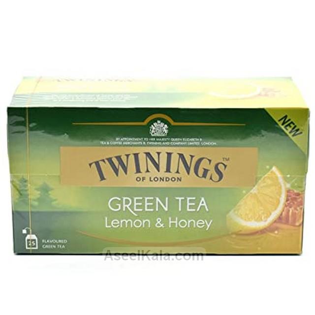 چای سبز کیسه ای توینینگز Twinings طعم عسل و لیمو بسته 25 عددی