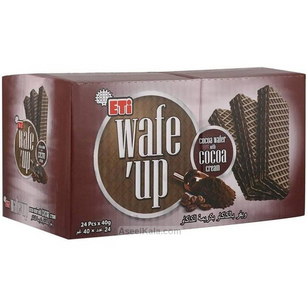 ویفر ویف آپ Wafe Up با طعم کاکائو بسته 24 عددی