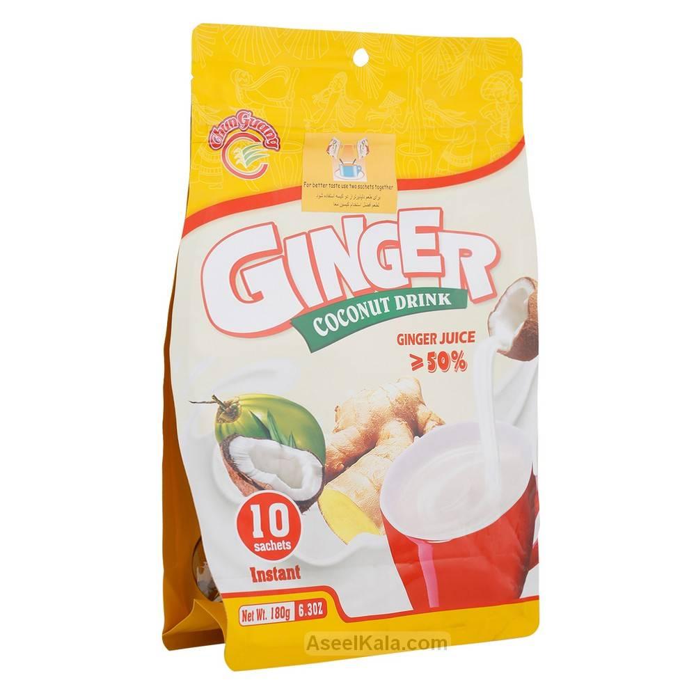 نوشیدنی فوری نارگیل زنجبیلی Ginger coconut بسته 10 عددی