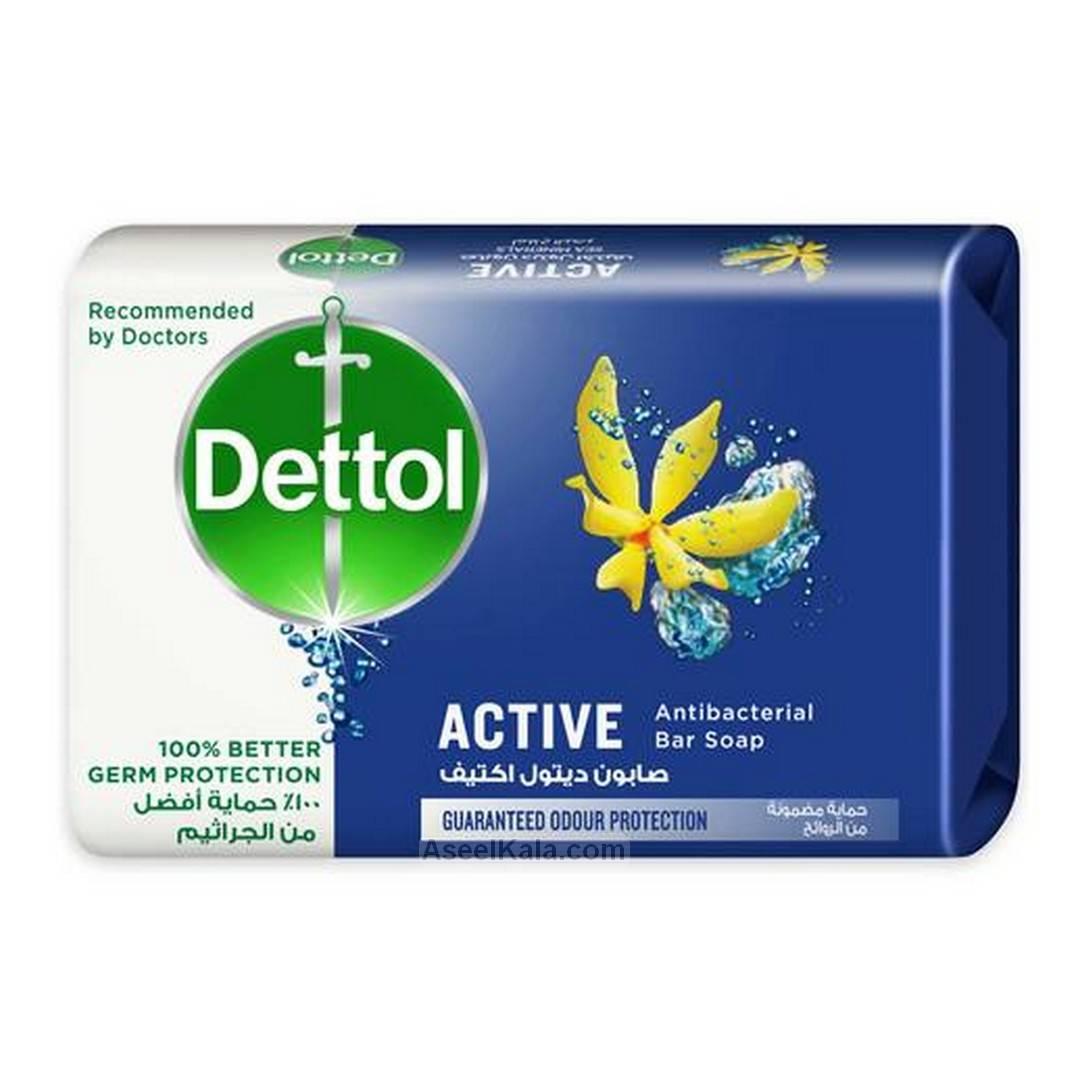 صابون دتول Dettol مدل Active Anti-Bacterial وزن 165 گرم
