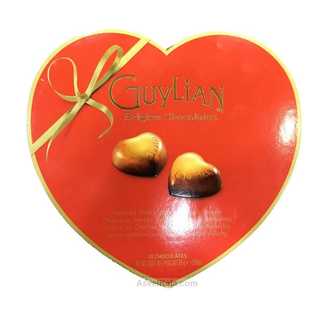 شکلات قلبی گویلیان Guylian بلژِیکی وزن 105 گرم