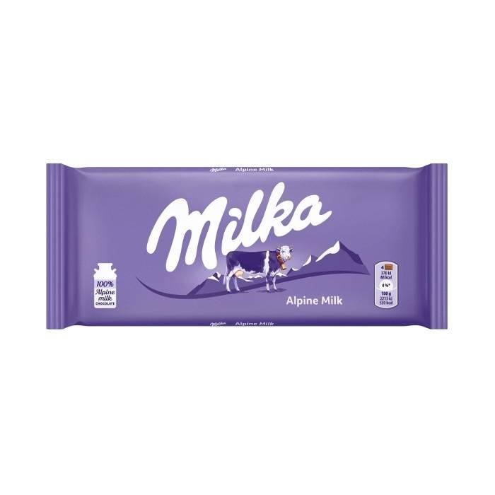 شکلات میلکا Milka با طعم شیر آلپ 100 گرم