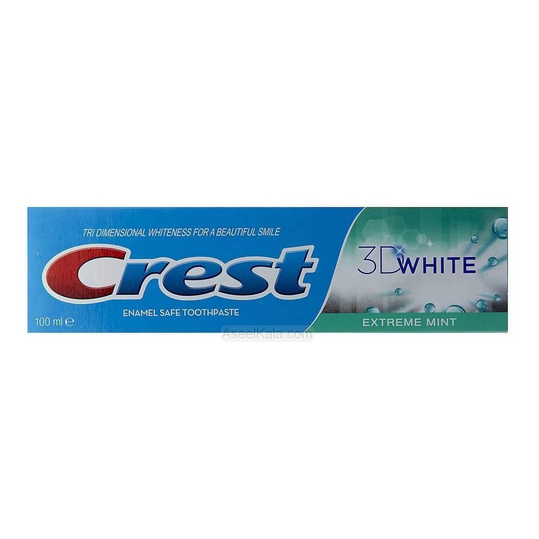 خمیر دندان کرست Crest مدل 3D White وزن 100 میل