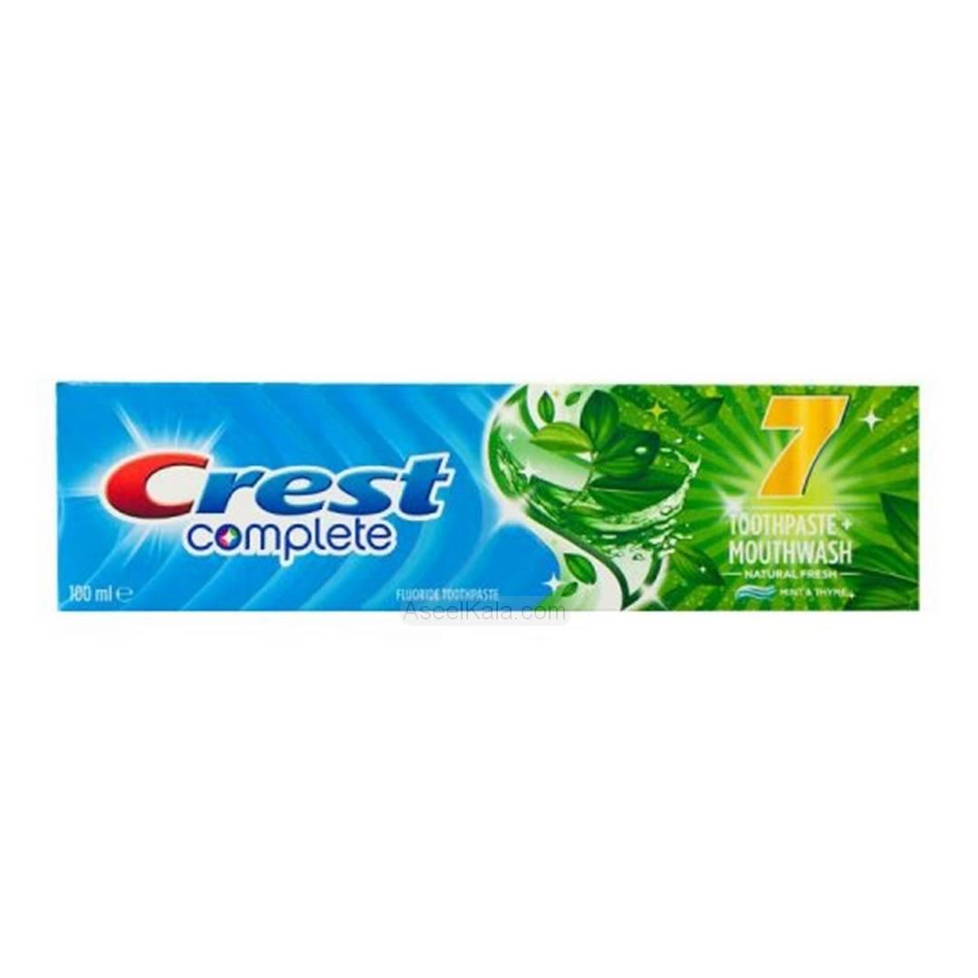 خمیر دندان کرست Crest مدل Complete 7 Toothpaste Mouthwash وزن 100 میل