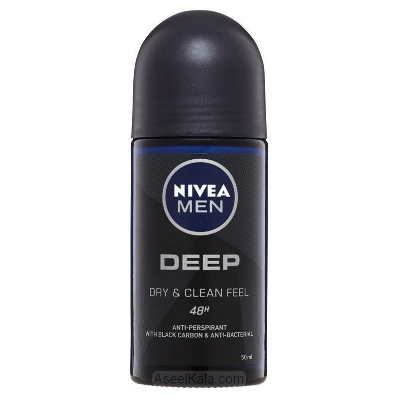 رول ضد تعریق مردانه مام نیوآ Nivea مدل Deep آلمانی 50 میل